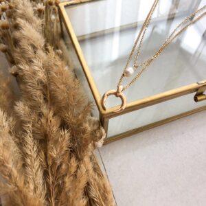 Podwójny naszyjnik: perła i róg obfitości